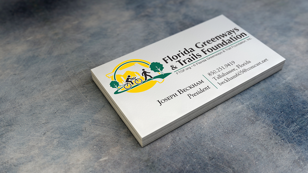 Florida greenways trails foundation business card on behance colourmoves
