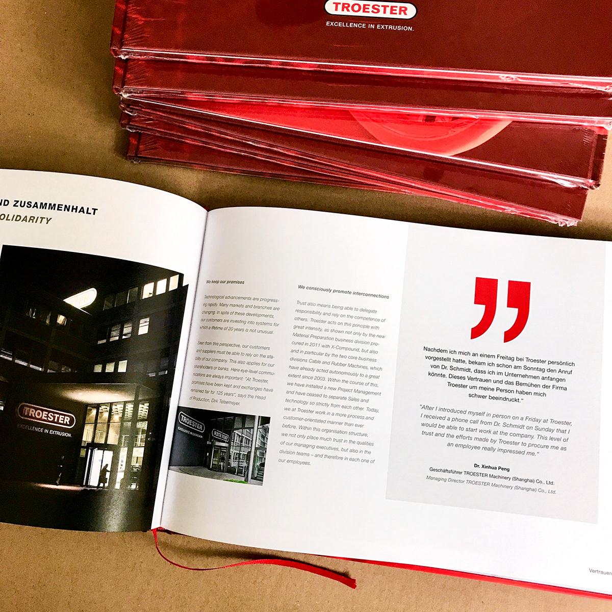 anniversary book buch history Buchgestaltung Corporate Design editorial identity print Book Binding