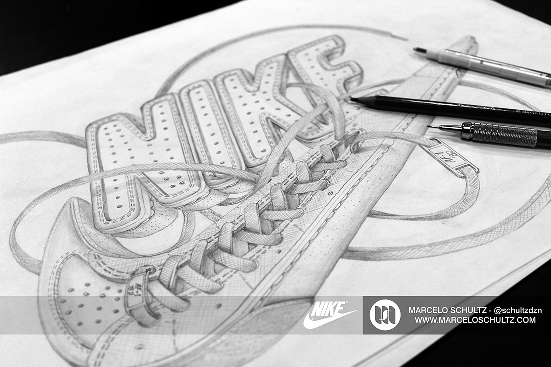 nike futura logo on behance