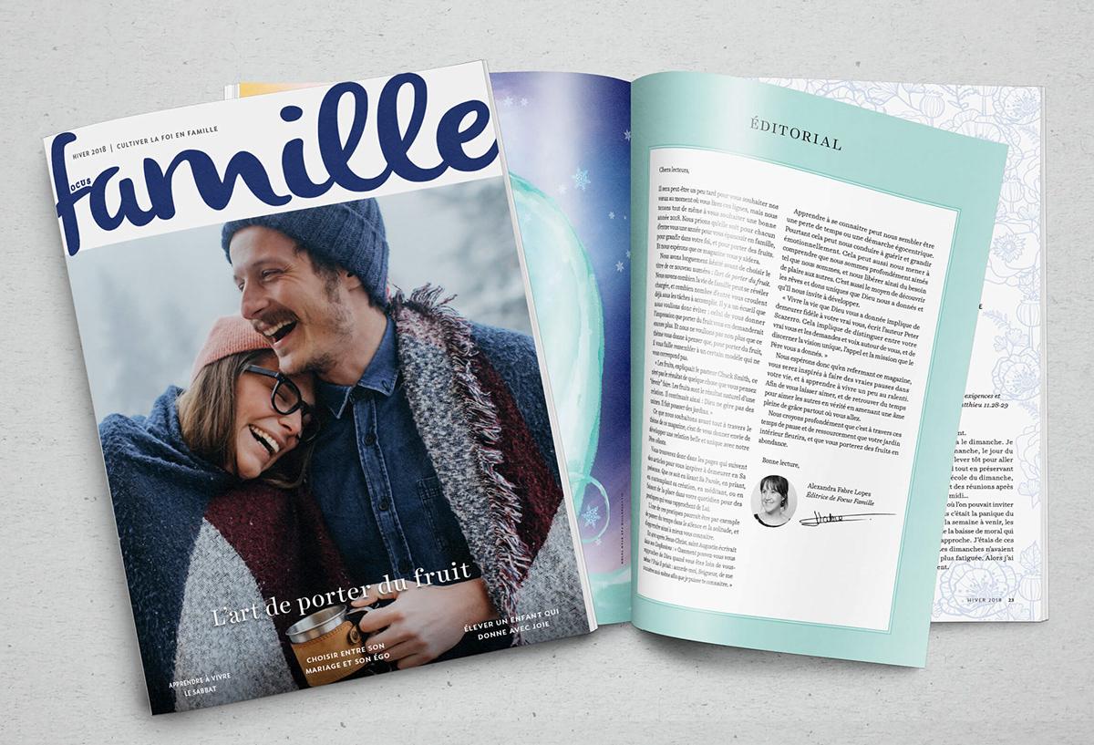 Magazine Apprendre La Photo focus famille   magazine spreads   illustrations on behance