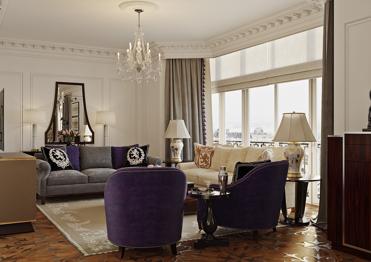 Superb CGI   Interior In Ralph Lauren Style On Behance