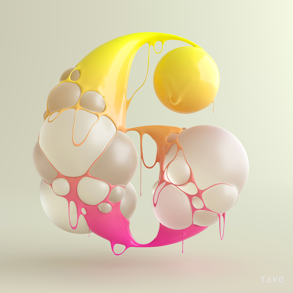 blup numbers fluid colorful vibrant