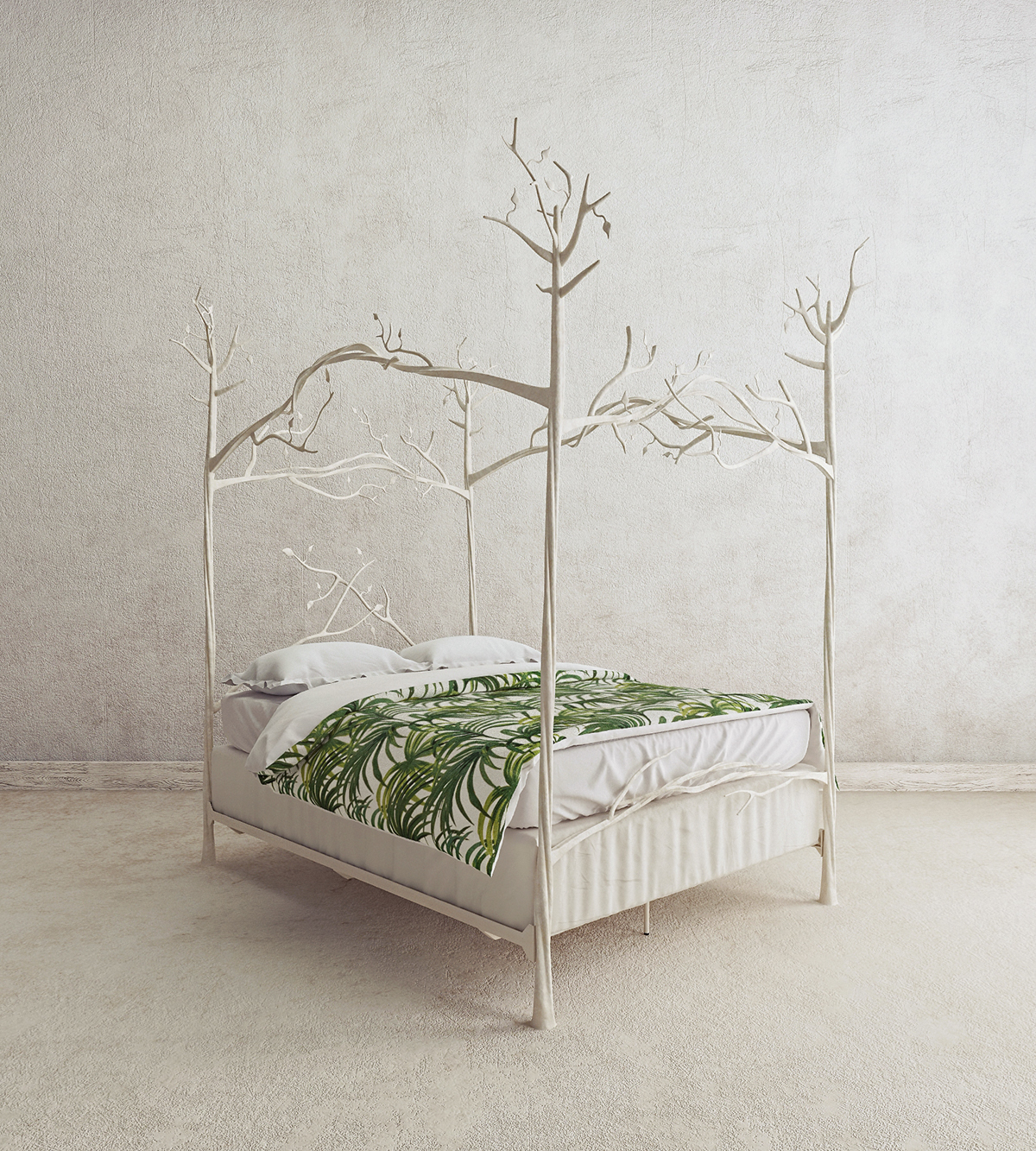 - Forest Canopy Bed 3d Model On Behance