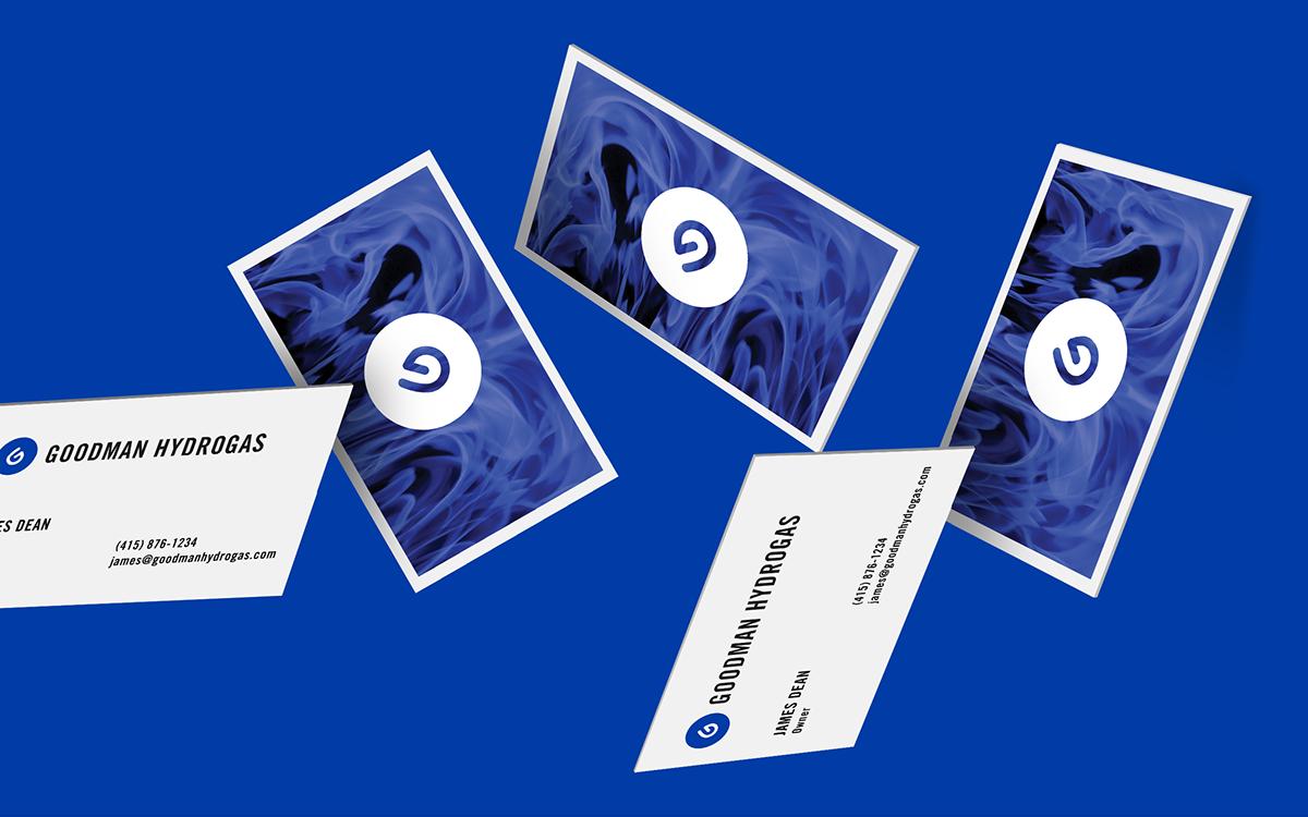 brand identity logo blue company Stationery business card