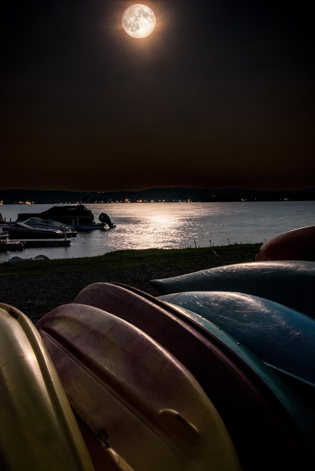 super moon Rice Lake Cottage Composite