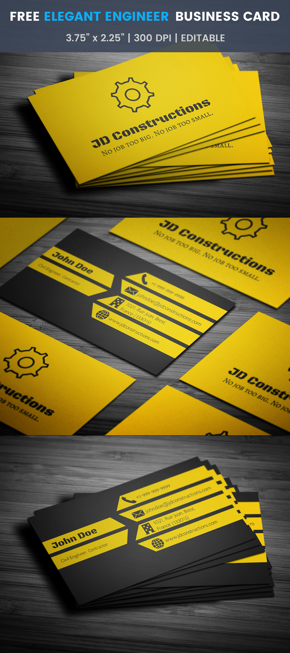 Free construction business card template on student show free construction business card template wajeb Gallery