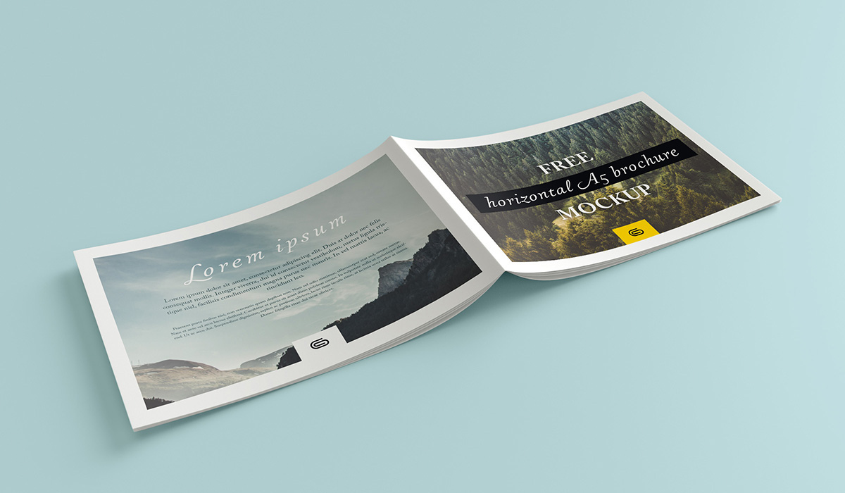 Free landscape brochure mockup on Behance
