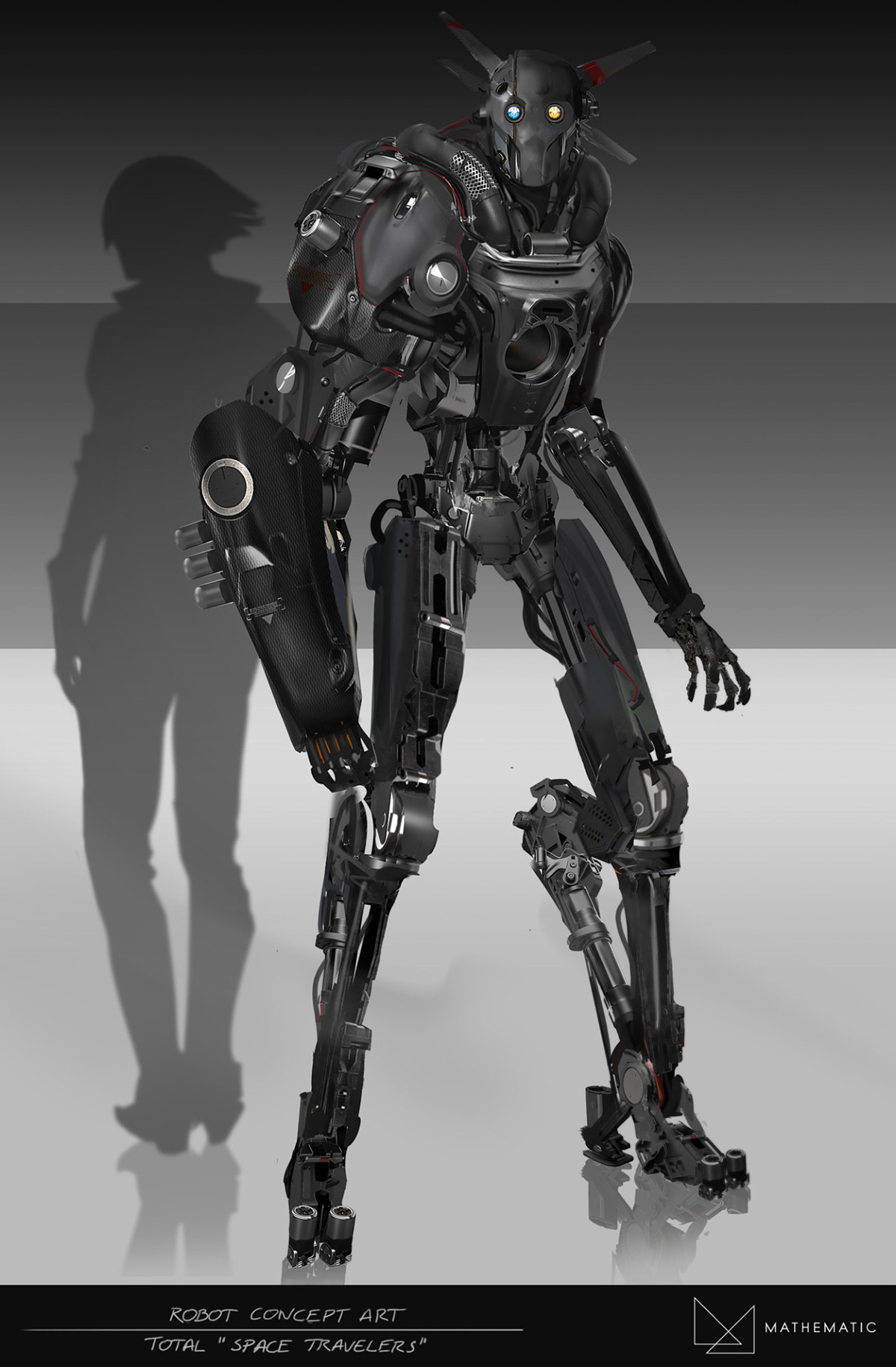 Robot concept art total advertising on behance for Total space design