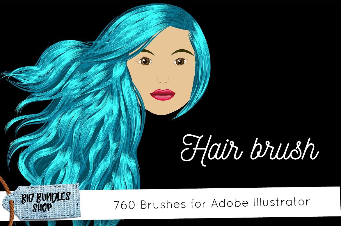 Hair Brush Adobe Illustrator On Behance