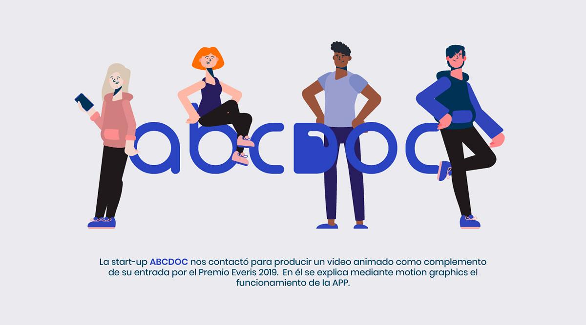 abcdoc animation  animacion motion graphics flat blue medic personajes characters