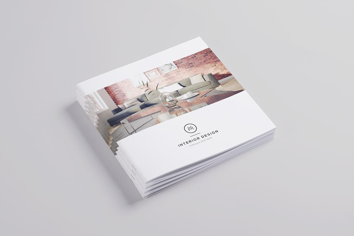 Minimal interior design brochure on behance for Interior brochure designs