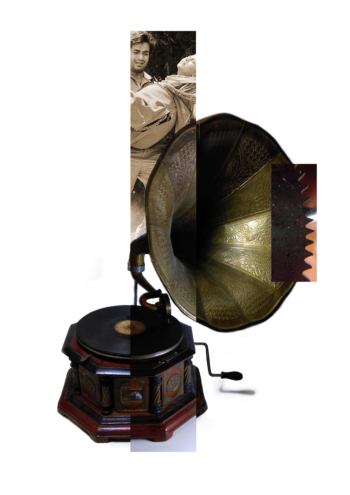 ball toy gramaophone object collage STEAMPUNK spine bones shipbreaking chittagong