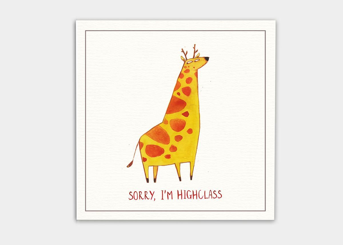 postcard cute animal Dinosaur MEAN cruel