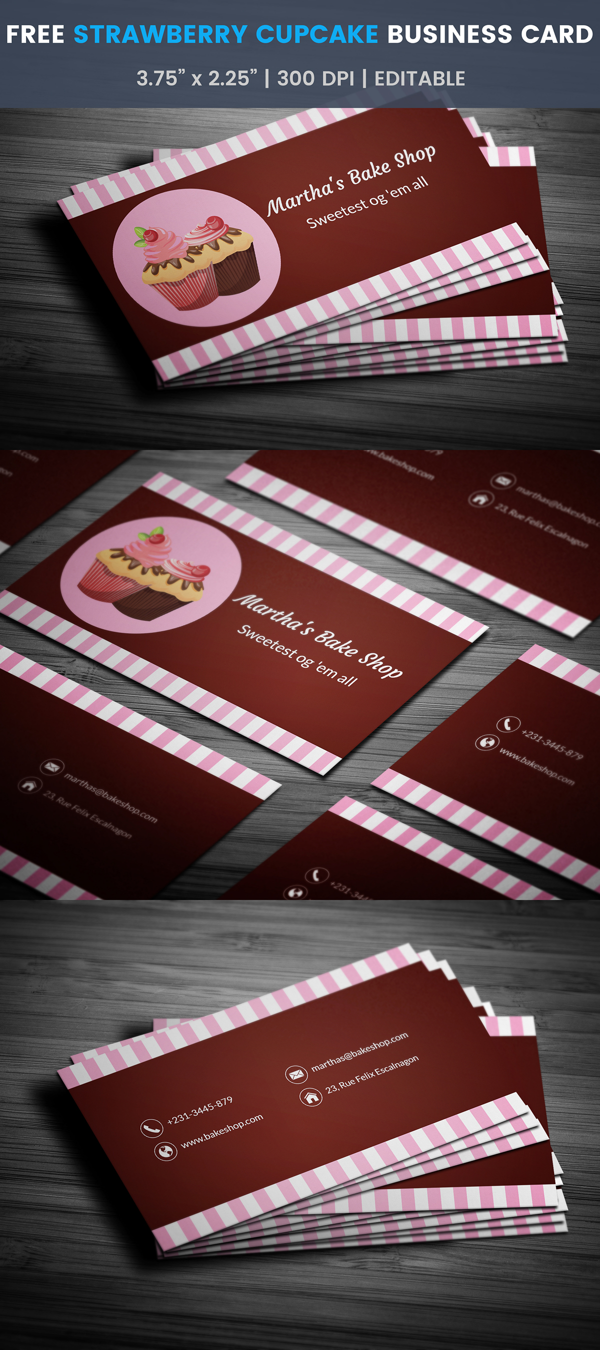 Free Bakery Business Card Template On Student Show