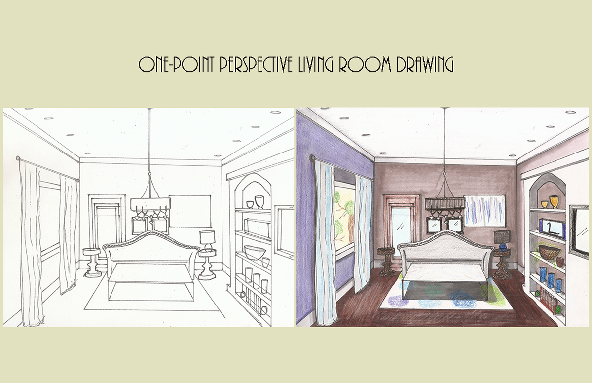 One Point Perspective Drawing On Behance
