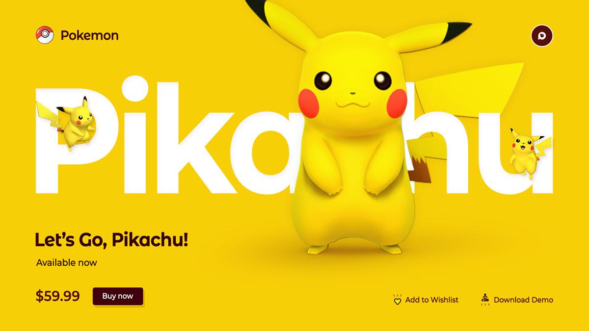 Clean Design,design,designing,pikachu,Pokemon,trendings,ui design,UX design,Web Design ,Website Design