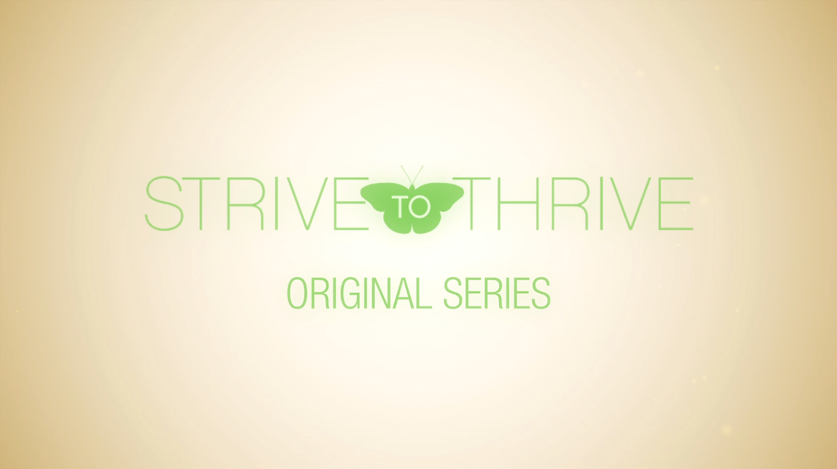 Strive to Thrive title sequence graphics packaging butterfly Lower Thirds credits promotional spot web series transitions