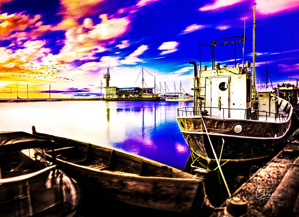 Image may contain: ship, boat and water