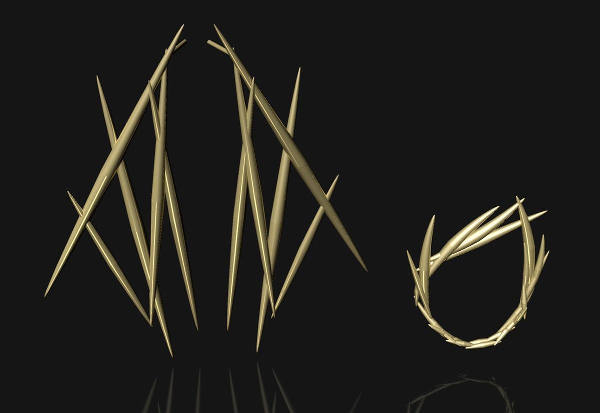 Rhinoceros Rhino 3D cad jewelry earrings ring digital jewelry design rendering