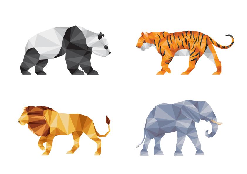 animals geometric triangulation