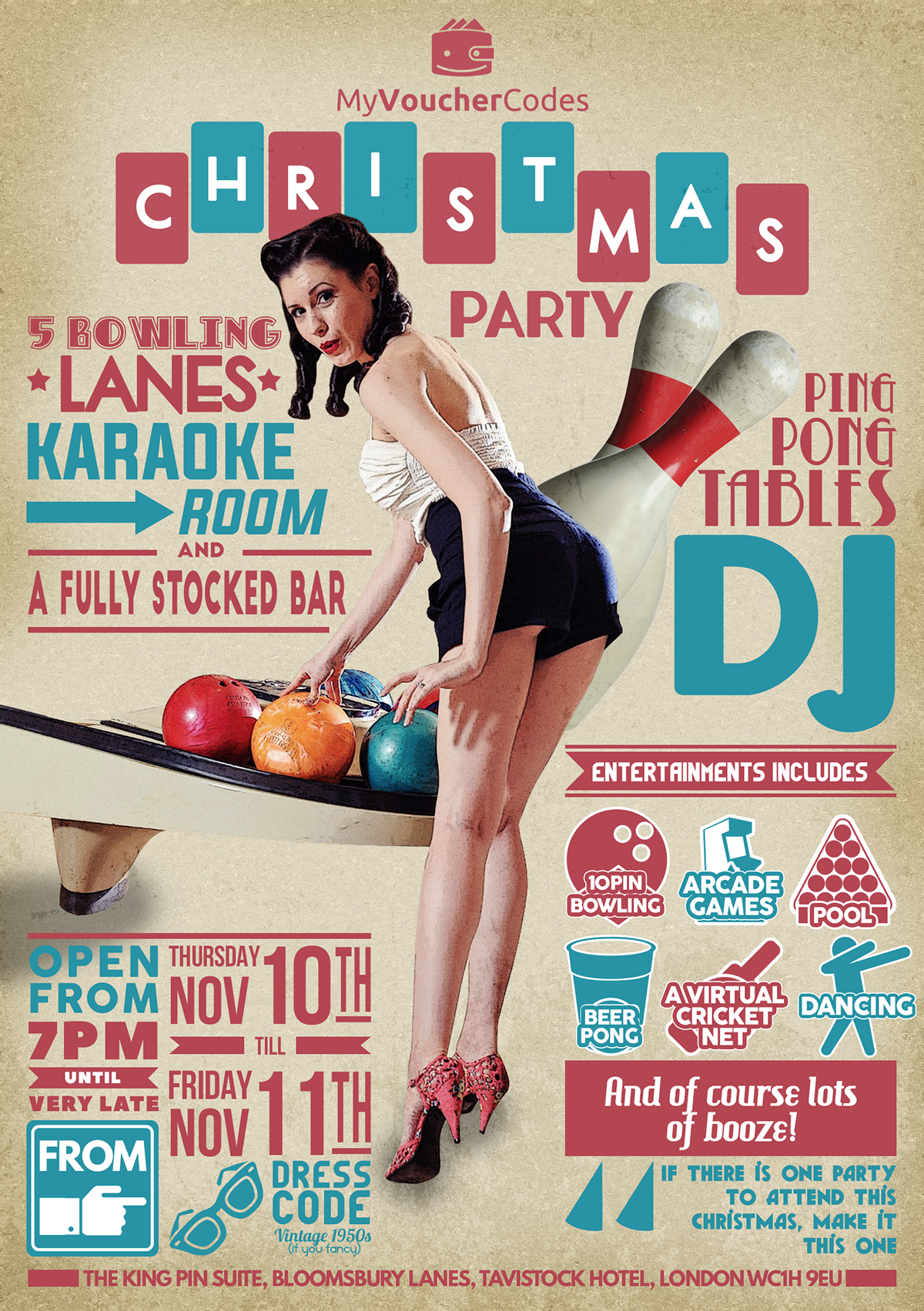 Bowling Party invitation on Behance