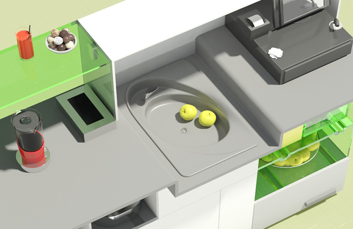collapsible cooking  modular kitchen on behance