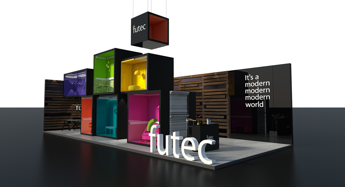 Modern Exhibition Stand Design : Futec booth building show egypt mental flame on