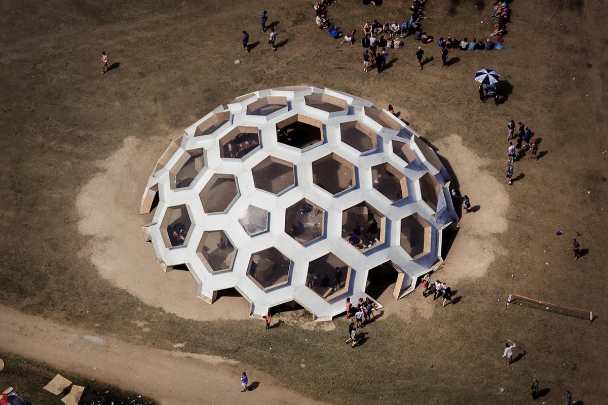 Roskilde Festival 2012 Plywood Dome detours tejlgaard Jepsen Geodesic dome