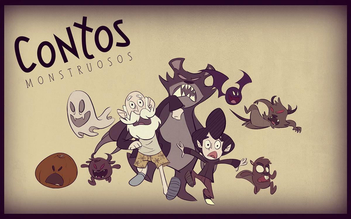 Character Design Courses University : Contos monstruosos on behance