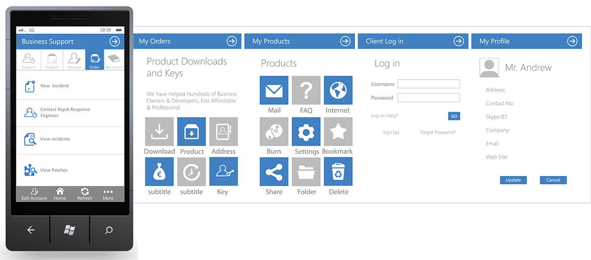 windows mobile ui design guidelines