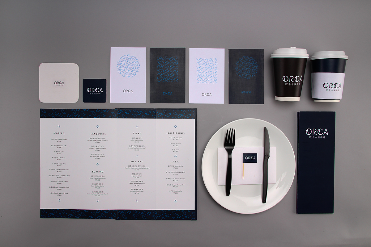 cafe restaurant brand brandbook Ocean blue Aqarium 水族 咖啡 品牌