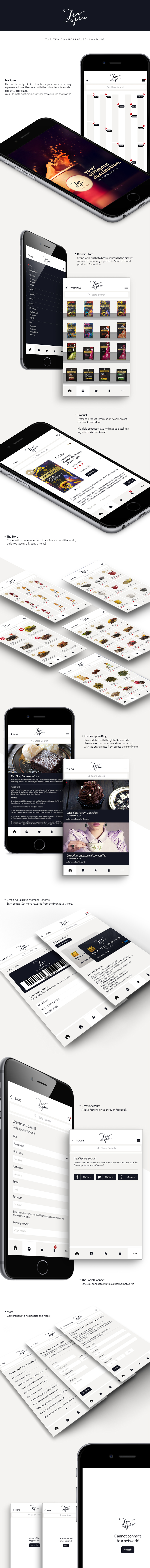 Tea Spree - The ultimate 'Tea Shopping' experience on Behance