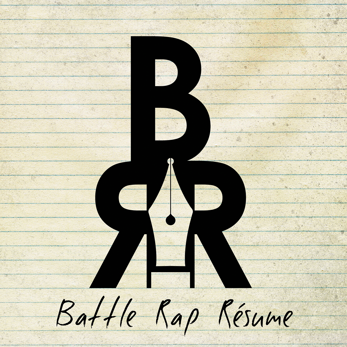 logo battle rap Resume podcast vector