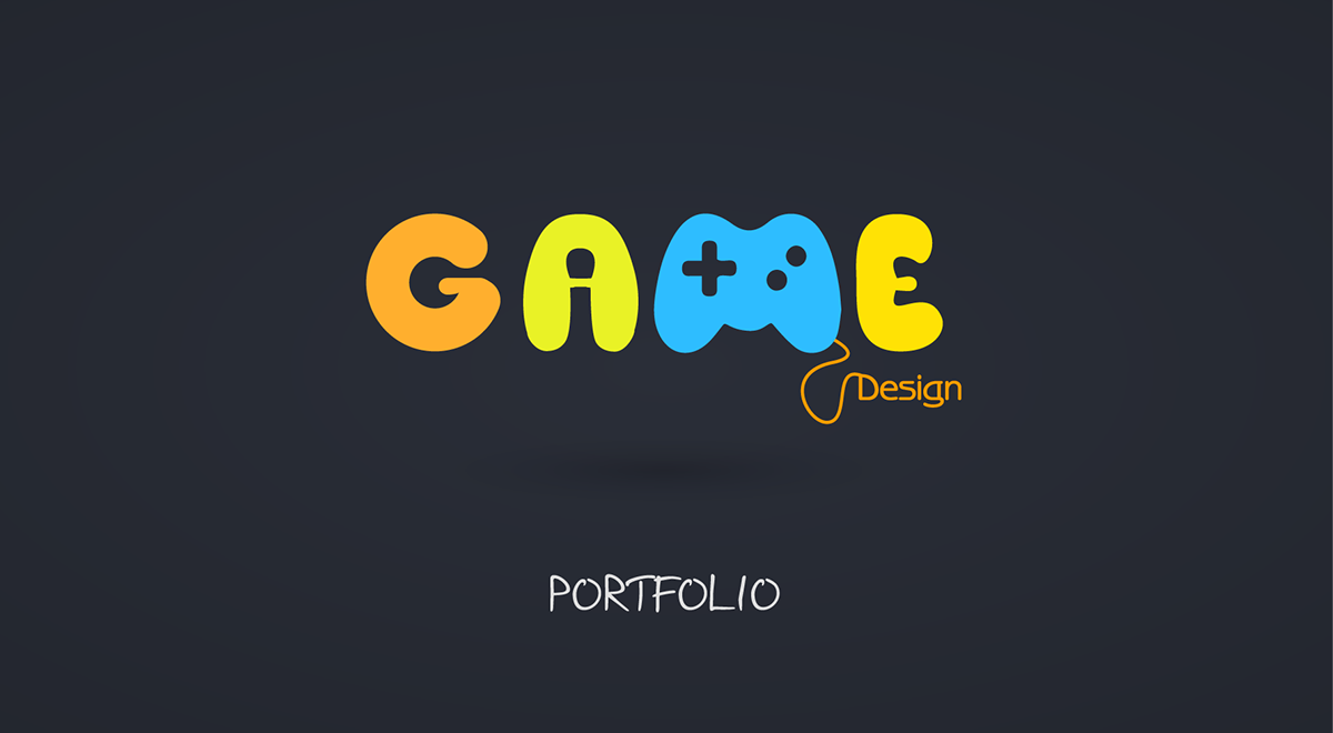 Game Design Portfolio Cover On Behance - Game design portfolio
