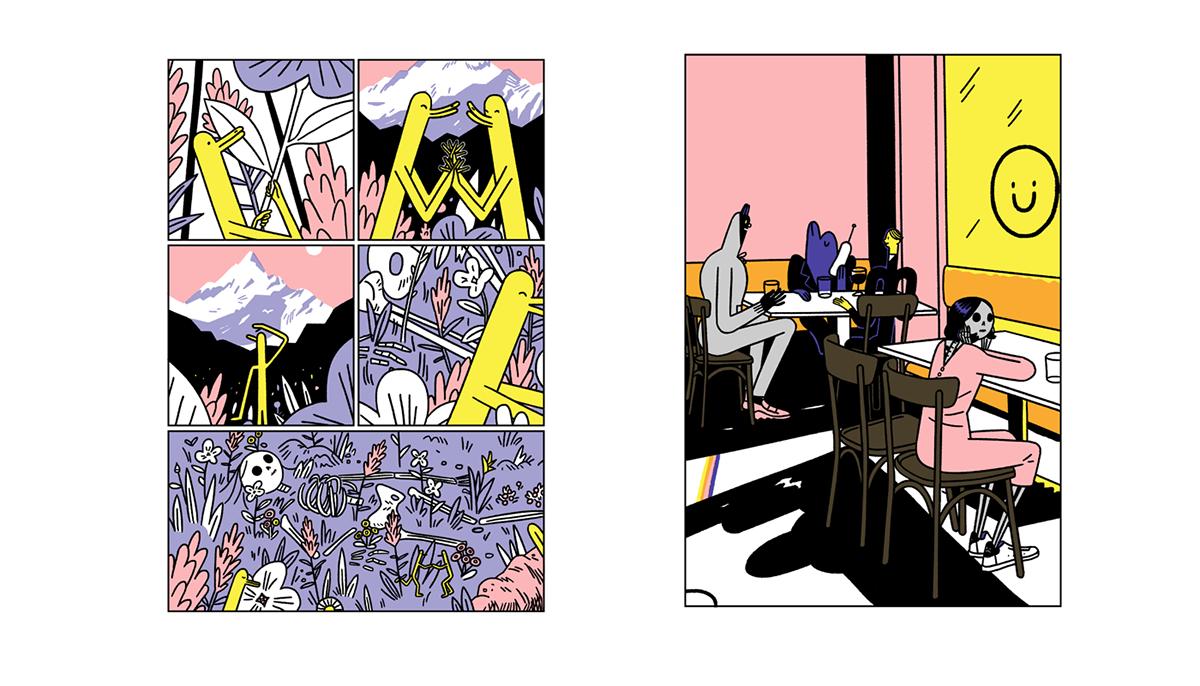 comics Zine  artbook risography sashagrime