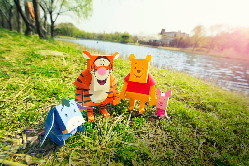 disney papertoy momot mickey minne Pooh Tigger buzz woody winne the pooh monster inc sulley