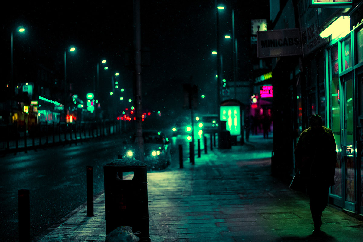 winter snow Street Urban neon colour Colourful  night light