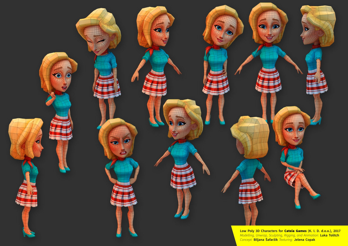 Low Poly Game Characters for Cateia Games on Behance