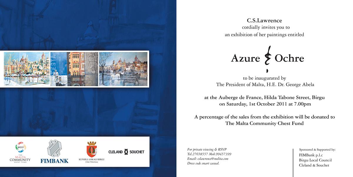 Art Exhibition Invite Poster On Pantone Canvas Gallery