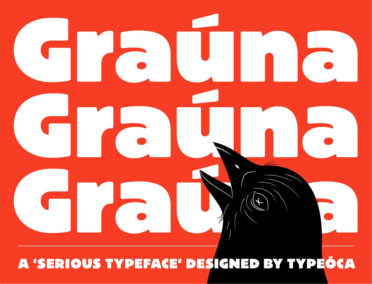 Výrazná, tučná typografie.