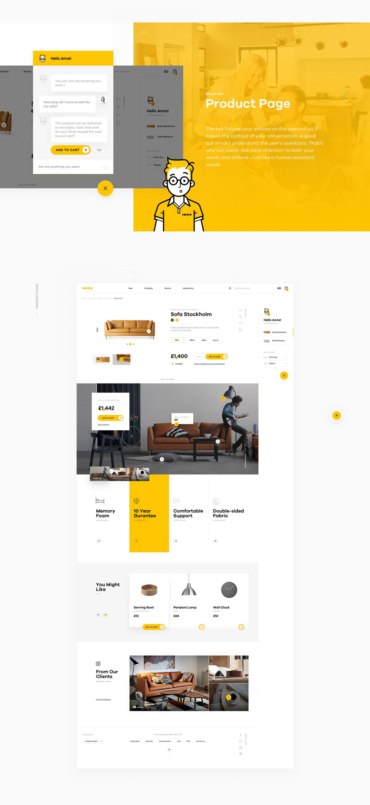 Shopping made personal ikea online experience concept on for Concept ikea