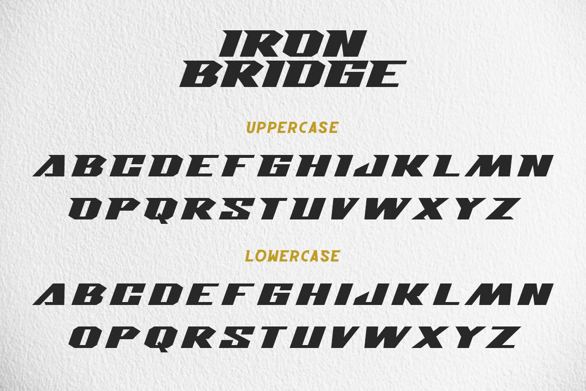 branding  designfont Display font Games iron bridge Logotype techno youtubefont
