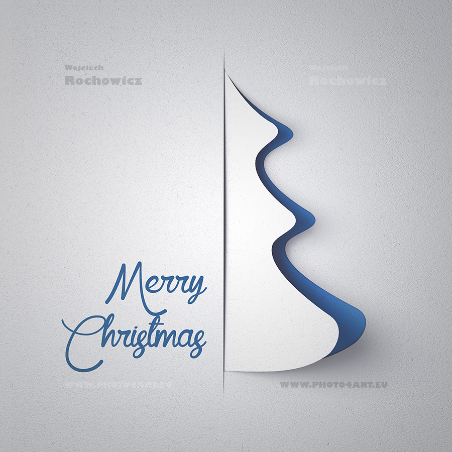 christmas tree and happy new year card 3d graphic on behance