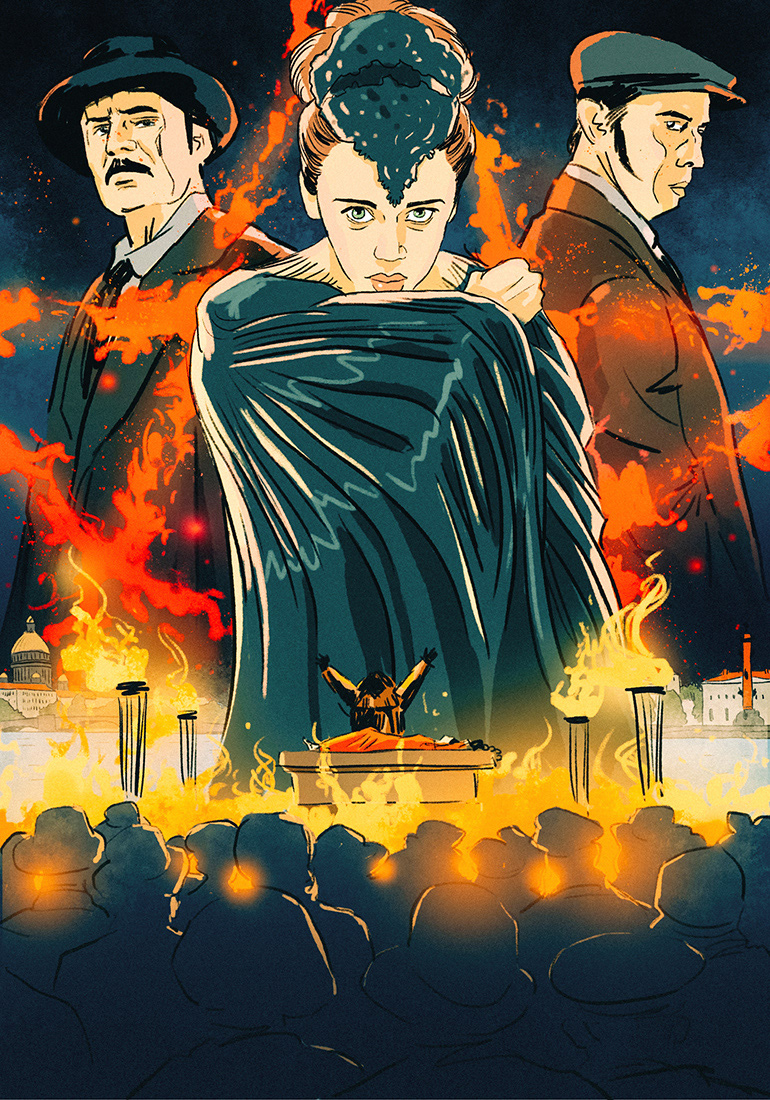 the ninth movie poster CGI retouching  postproduction