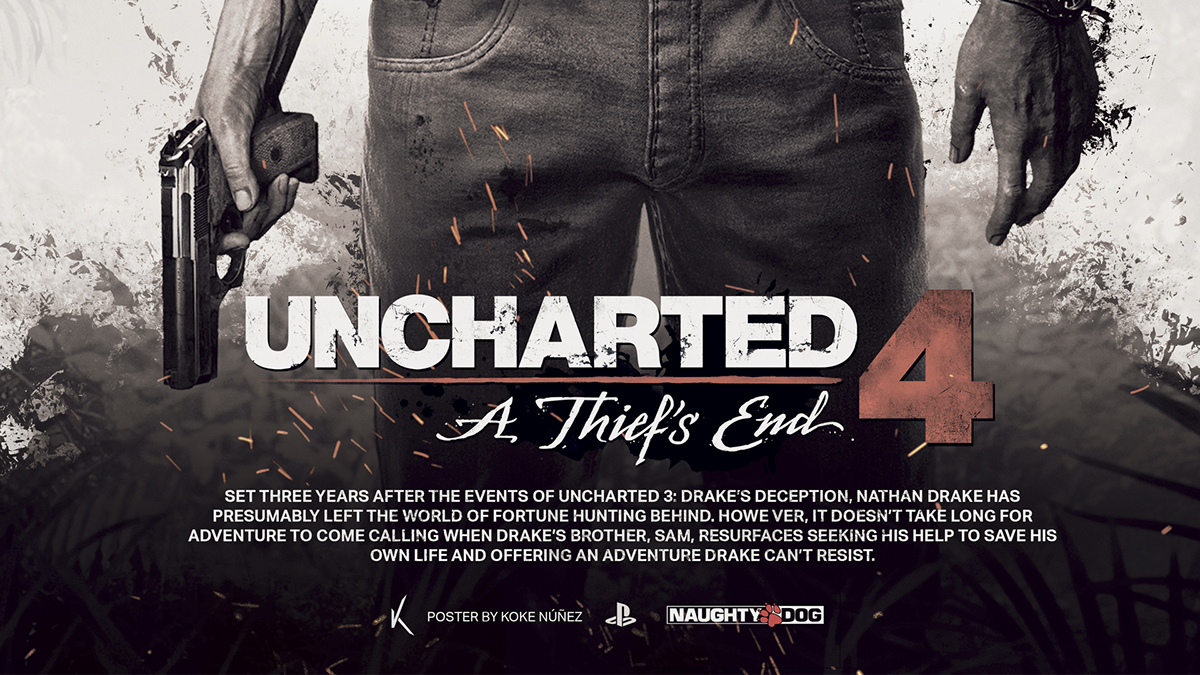 Uncharted 4 A Thief S End Fan Poster On Behance