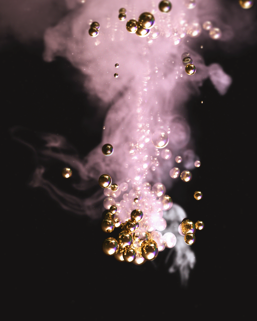 3D 3d art 3d render abstract dark Digital Art  fog Moody Render smoke