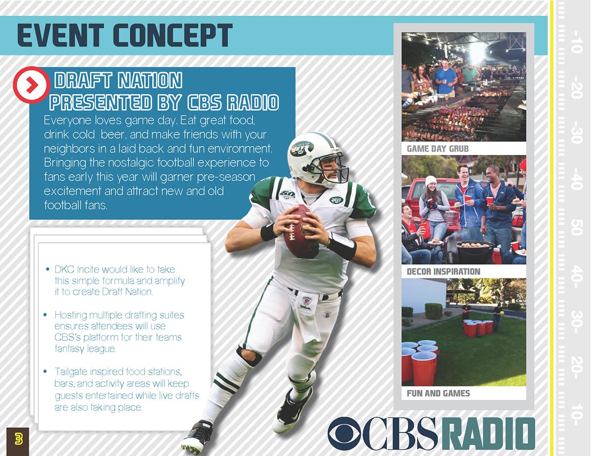 CBS Radio Draft Nation Proposal on Behance