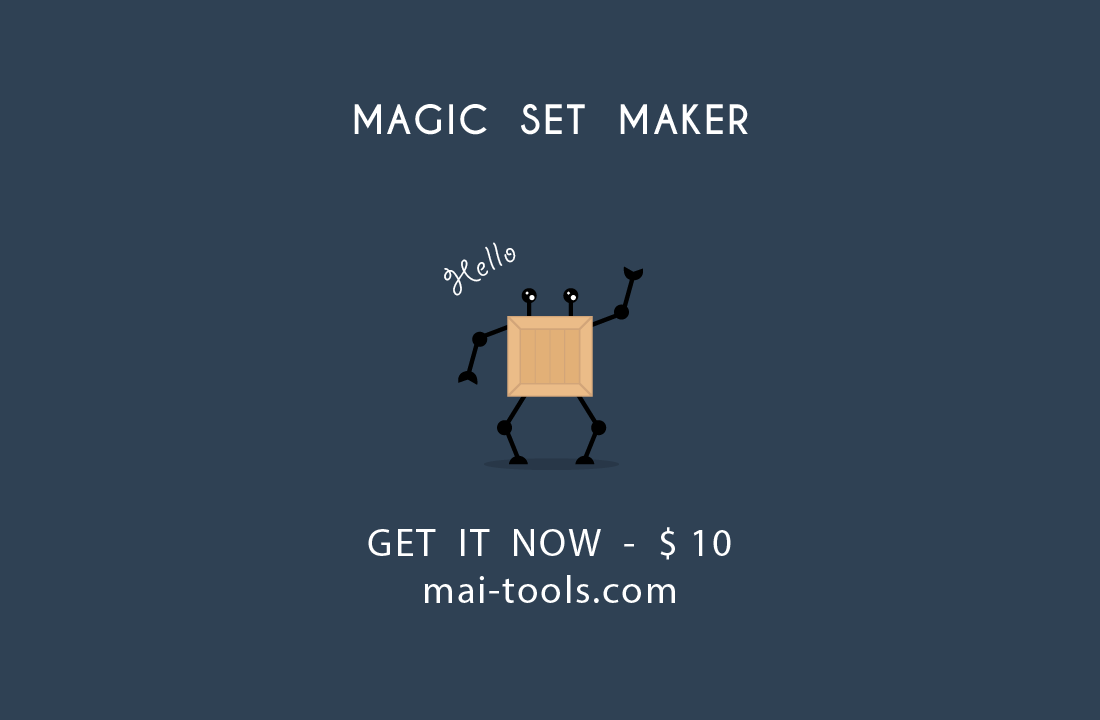 Magic set maker illustrator script on behance magic set maker script has convenient settings for creating different sets collections and bundles of vector icons badges emblems signs and symbols buycottarizona