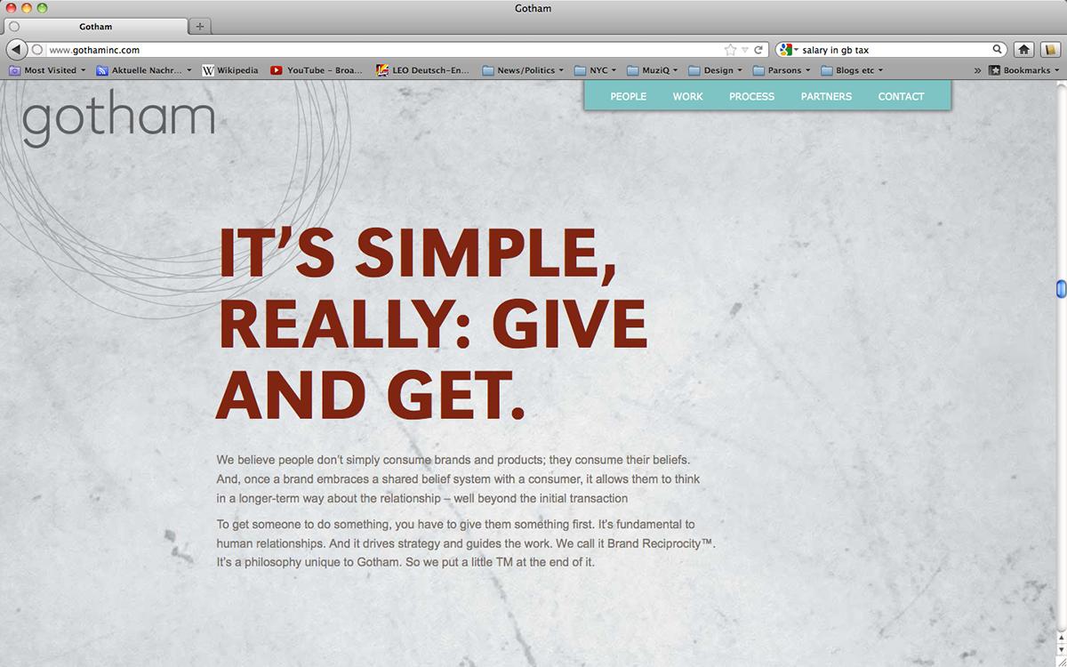 Website Redesign for Gotham Inc  on Behance