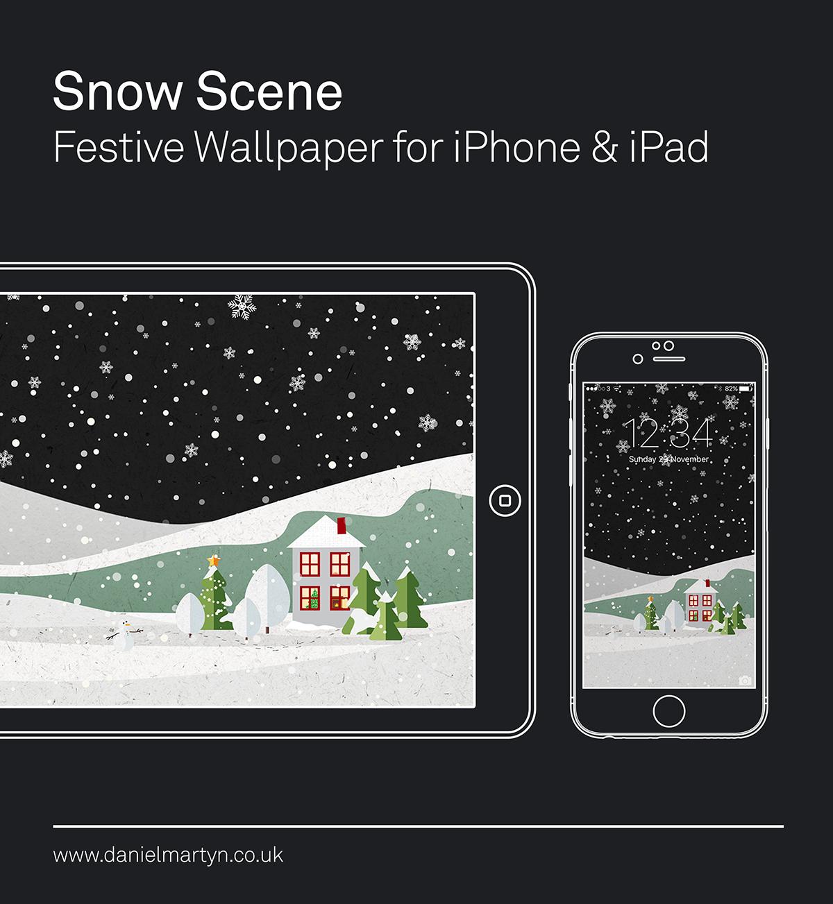festive,wallpaper,iphone,snow,iPad,background,Christmas,snowy,house